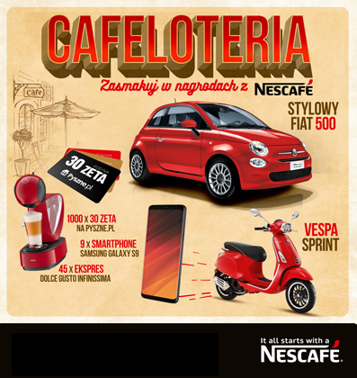 CAFELOTERIA. Taste the NESCAFE awards.